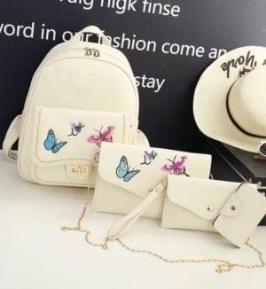 Rucsac Butterfly S2, Bej, set 4 accesorii