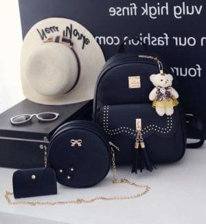 Set Rucsac Shine,  Negru , 4 accesorii