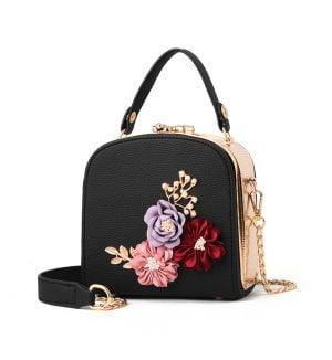 geanta dama 3d flower zafia.ro neagra