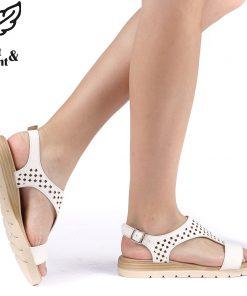 Sandale dama Ozana albe