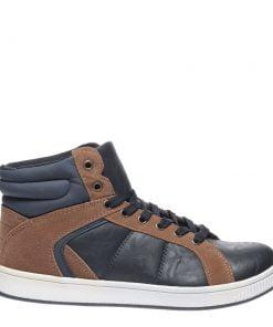 Pantofi barbati Carolos Albastru cu camel