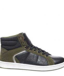 Pantofi barbati Carolos negri cu verde