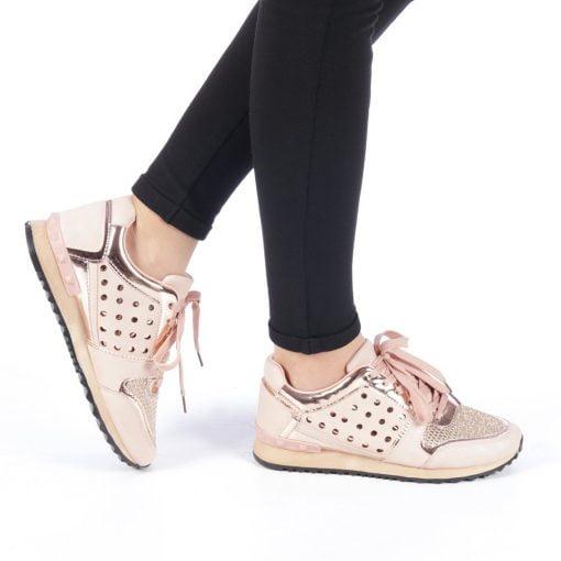 Pantofi sport dama Anahel roz
