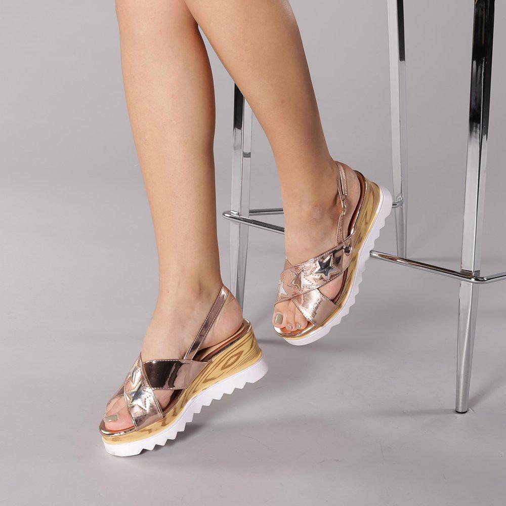 Sandale dama Maria bej sampanie
