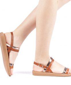 Sandale dama Etimera camel