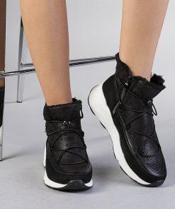 Pantofi sport dama  Elastik negri