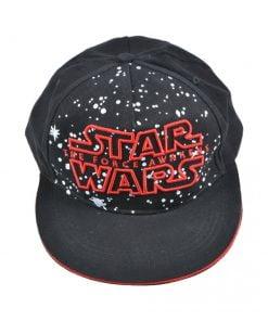 Sapca Star Wars  logo brodat  ajustabila  cozoroc bordura rosie  Disney  negru