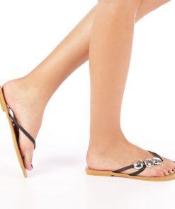 Papuci dama T169 negri
