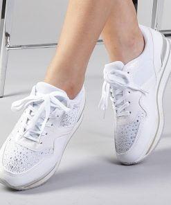 Pantofi sport dama Marionn albi