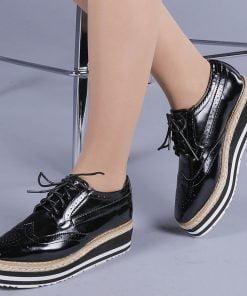 Pantofi casual dama Zonta negri
