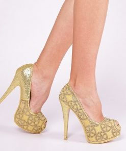 Pantofi dama Blade aurii
