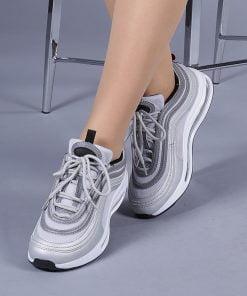 Pantofi sport unisex Faith argintii