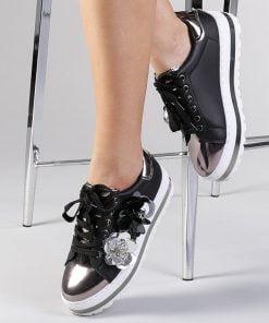 Pantofi sport dama Henriet negri