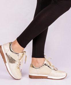 Pantofi sport dama Lola aurii