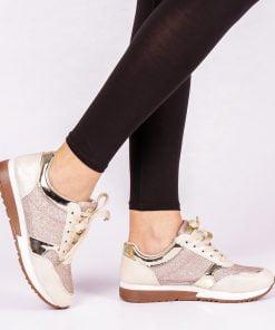Pantofi sport dama Jesse aurii