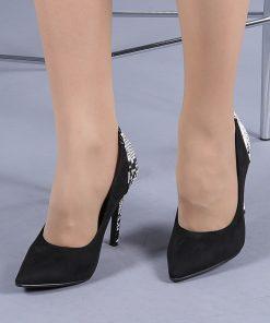 Pantofi dama Abrienda negri snake