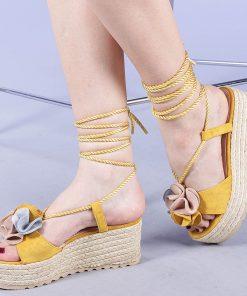 Sandale dama Yolanda galbene