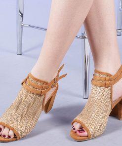 Sandale dama Tiffany camel