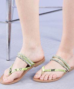 Papuci dama Sanziana galbeni