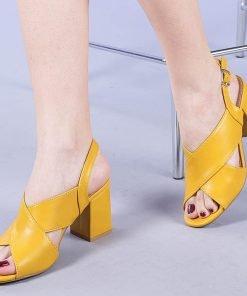 Sandale dama Aurora galbene