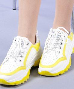 Pantofi sport dama Teea galbeni