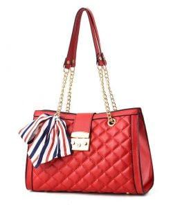 geanta dama rosie cu bareta lant - zafia.ro